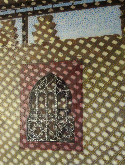 Marrakech - Peinture acrylique sur tirage photographique - support plexiglas
