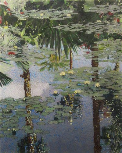 Jardin Majorelle - Peinture acrylique sur tirage photographique - support plexiglas
