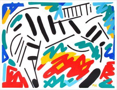 Le zèbre ( 100 X 130 cm - acrylique sur toile - 2013)